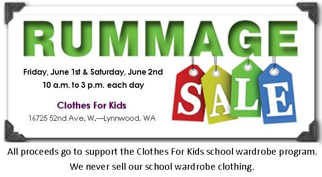 Annual Rummage Sales Clothes For Kids