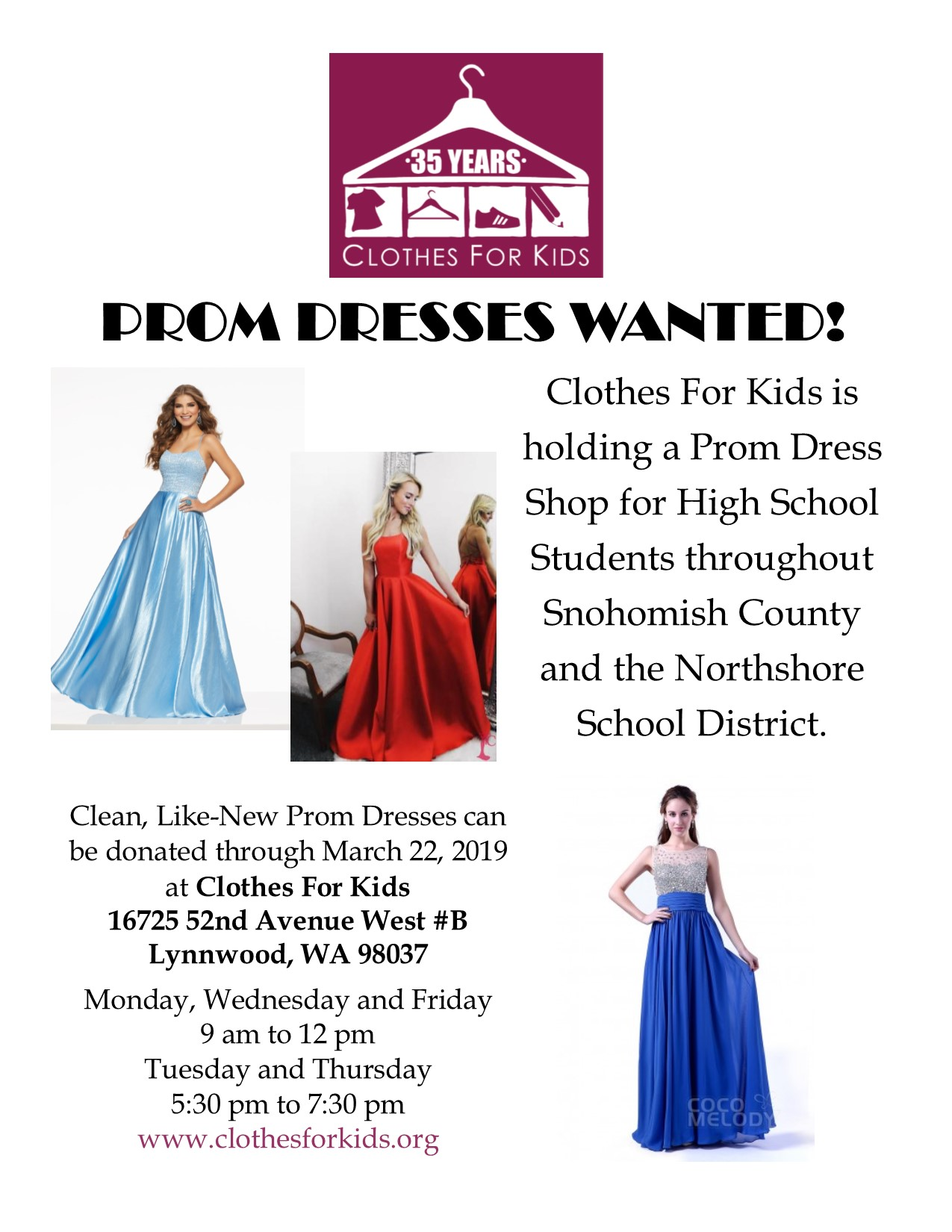 Prom Dresses Wanted